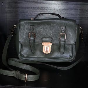 Kate Spade olive pebbled leather crossbody